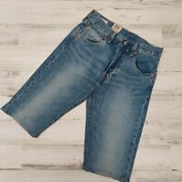 NWT Levi Strauss Size 29 Mens 501 Shorts Button Fly Straight Leg Inseam 13