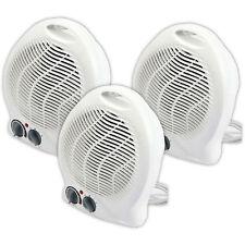 3X 1000W/2000W Portátil Silencioso Ventilador Calefactor Eléctrico Calentador Hot & Cool ligero