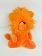 VINTAGE DAN BRECHNER ORANGE LION STUFFED ANIMAL PLUSH TOY RARE CARNIVAL