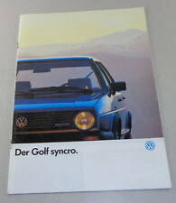 Prospectus VW Golf II/2 Syncro Stand 07/1986