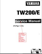 Yamaha 1987-2017 TW200 Trailway Service Manual On CD