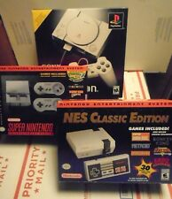 PLAYSTATION ONE (PS1) & NINTENDO CLASSIC & SUPER NES MINI - 3 NEW CONSOLES PSONE