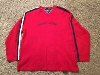 Men's Tommy Jeans Red/Blue/White Shirt, Size M