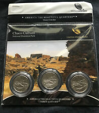 2012 Chaco Culture National Hist Park Three 3-Coin Set America N82 ATB Quarter