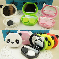1x Panda Shape Plastic Storage Contact Lens Care Case Box Container Travel Kit