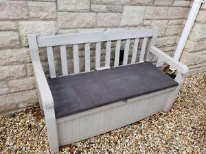 Outdoor Garden Storage Bench Seat Keter Eden Brown/cream