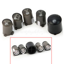 New Black Letters A B X Y ABXY + Guide Buttons Kit Parts for Xbox 360 Controller