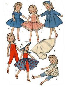 Doll Clothes Pattern 8814 Little Miss Revlon Toni Crown Princess Sally Star Jill