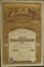 Portugal Companhia Industrial da Beira Alta alte Aktie 1920 dekorativ