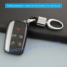 TPU Black Car Key Holder For Land Rover Range Rover Jaguar XE XF XJ Accessories