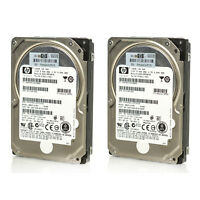 "Lot of 2 Assorted HP 2.5"" 146GB 10K RPM 16MB 6Gbp SAS HDD 375863 430165 431954"