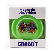 GRABBIT Lime Green Magnetic Pincushion With Ball Head Pins