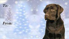 Labrador Retriever Christmas Labels by Starprint - No 2