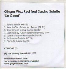 (59K) Ginger Woz Red ft Sacha Solette, So Good - DJ CD