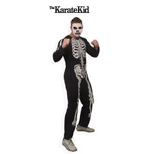 Adult Movie The Karate Kid Cobra Kai Skeleton Gang Jumpsuit Halloween Costume
