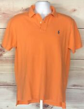 Polo Ralph Lauren Men's Polo Shirt 2 Button Collar Classic Cantaloupe Medium