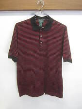 EUC! Hugo Boss Golf Shirt polo/rugby striped cotton red/black sz L made in Italy