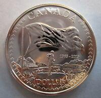 2015 CANADA 50th ANN OF CANADIAN FLAG BU SILVER DOLLAR COIN
