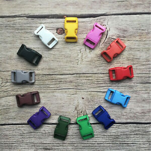 5/8 - 15mm Coloured Quick Release Paracord, Collar, Bags Buckles