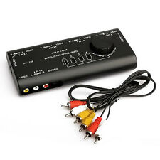 4 in 1 AV Audio Video Signal Switcher Splitter S-Video Selector with RCA Cable
