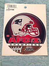NFL New England Patriots Sticker 2004 AFC Champions Super Bowl XXXIX Football