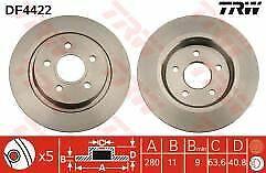 Fits Volvo V50 All Petrol & Diesel Models 04-12 Rear Brake Discs 280mm Solid