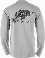 Long Sleeve Microfiber Fishing Boating UPF Sun Protection Bass Shirt