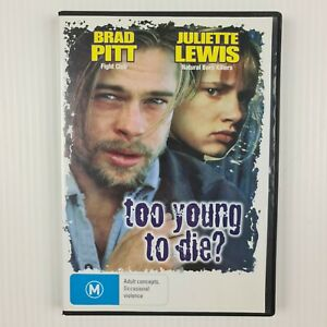 Too Young To Die? DVD - Brad Pitt - Juliette Lewis -All Regions -TRACKED POSTAGE
