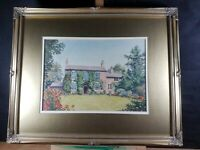 COUNTRY HOUSE SCENE WATERCOLOUR SIGNED H. PARTINGTON