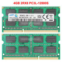 For Samsung 4GB 8GB 16GB 2RX8 PC3L-12800S DDR3L-1600MHz SODIMM Laptop Memory