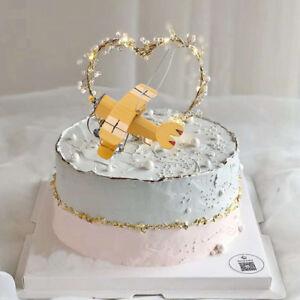Anniversary House Happy Birthday Aeroplane Airplane Cake Decoration Topper KS