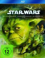 Krieg der Sterne STAR WARS Teil 1 2 3 I II III Trilogy 3 BLU-RAY BOX Trilogie
