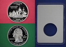 2000 S Proof Virginia State Quarter With DIY Slab DCameo Clad Flat Rate Shipping