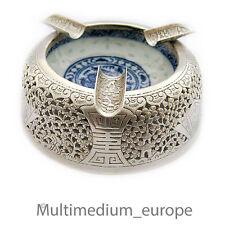Silber Aschenbecher Porzellan silver Ash Tray porcelain 900 China 🌺🌺🌺🌺🌺