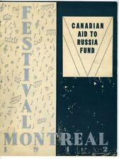 FESTIVAL MONTREAL CANADIAN AID TO RUSSIA FUND Program 1942 Forum Eugene Ormandy