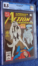 Action Comics #595 CGC 8.5 White pages  -First Silver Banshee! John Byrne!
