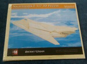 Nighthawk F-117 3D Wooden Puzzle