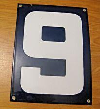 ORIGINAL PORCELAIN HOME STREET ADDRESS / GAS STATION NUMBER 6 or 9 SIGN ~  LOT F