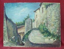 Grande peinture à l'huile signée Hubert Lemaitre à restaurer