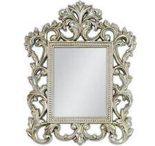 Quadro SPECCHIO Barocco Specchio a Parete ARGENTO ANTICO Rokoko 70x55cm Renaissance Woe