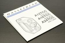 Hasselblad A12TCC, A16TCC, A24TCC Instruction Manual