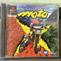 INTERNATIONAL MOTO PS1 Playstation 1 Game Complete