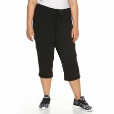 NWT Tek Gear Core Lifestyle Black Capri Leggings Women's Plus Size 2X