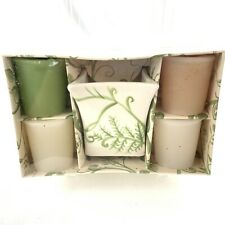 Vtg Bath and Body Works White Picket Fence Votive Candle Collection Set In Box