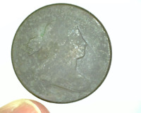 1801 US LARGE CENT - DRAPED BUST - 1/000 VARIETY - CORRODED, WEAK OBVERSE