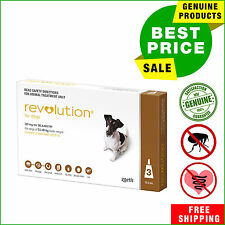 Revolution Flea Heartworm treatment for dogs 3 Pipettes 5.1 to 10 Kg Brown Pack