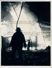 1974 Firefighter Silhouette Press Photo