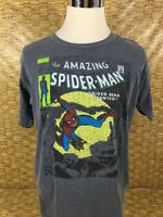 The Amazing Spider Man Graphic Tee Faded Gray Short Sleeve T Shirt Mens Size L