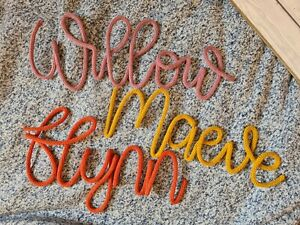 Personalised Sign Knitted Wire Word Any Name • word • phrase • SUNSHINE FONT