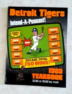 1989 DETROIT TIGERS Yearbook Magazine Team of the Decade 780 Wins